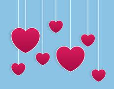 Hearts Strings Stock Illustration