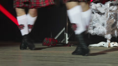 Scottish dancing Stock Footage