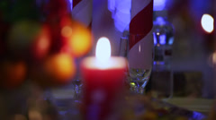 Christmas candle Stock Footage