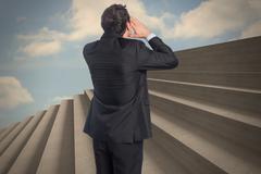 Stock Illustration of Composite image of shouting businessman