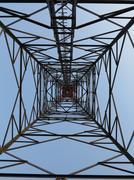 Various antenna against blue sky Stock Photos