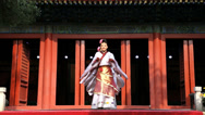 Stock Video Footage of Female Chinese dancers performing at Temple, China