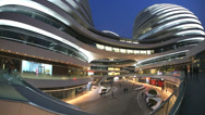 Stock Video Footage of Galaxy Soho Shopping Mall Beijing, Zaha Hadid Architect, China