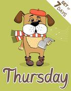 Thursday Stock Illustration