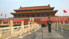 Soldier Forbidden City, Beijing, China, Asia Stock Footage