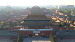 View of the majestic Forbidden City Beijing, China Stock Footage