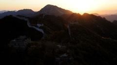 Sunrise Great Wall of China  Jiankou nr Beijing, China, Asia, Time lapse Stock Footage