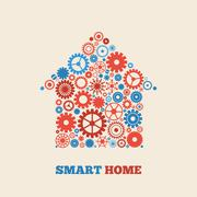 home technology - stock illustration