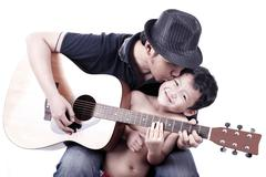 father and son relationship - stock photo