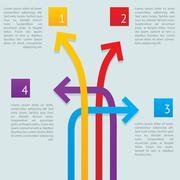 Arrows ways infographics Stock Illustration