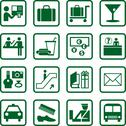 Stock Illustration of Airport and travel icons