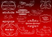 Stock Illustration of calligraphic elements for christmas holidays