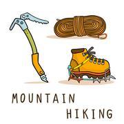 Stock Illustration of mountain hiking
