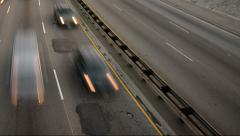 4K Highway Traffic 14 Loop Timelapse Highway Sunset Stock Footage