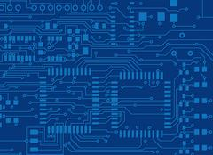Blue circuit board Stock Illustration