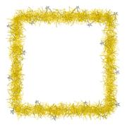 Stock Illustration of christmas tinsel texture background blank for text