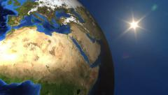 Ultra HD 4K Earth, Globe, Turning, Planet, World Map, Map - stock footage
