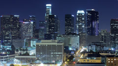 Downtown Los Angeles - Wilshire Blvd. Stock Footage