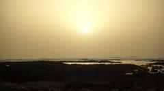 Sunset northshore fuerteventura Stock Footage