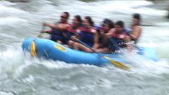 RIVER RAFTING FUN ON THE MIGHTY COLORADO Stock Footage