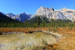 president range at emerald lake, yoho national park, canada - stock photo
