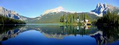 panorama of emerald lake, yoho national park, british columbia, canada - stock photo