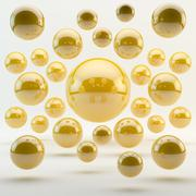 abstract yellow geometric shapes from rounds - stock illustration
