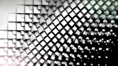 Black and white cubes screen wipe transition with alpha matte Stock Footage
