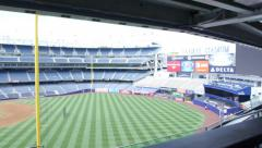 Yankee Stadium from Right Field Pan Stock Footage