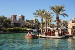 Views of madinat jumeirah hotel in dubai Stock Photos