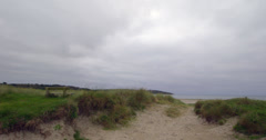 Tranquil secluded sand dunes Stock Footage