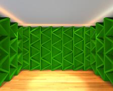 abstract color green wall interior design - stock illustration