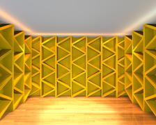 Abstract color yellow wall interior design Stock Illustration