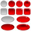 Stock Illustration of glass buttons, set