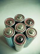 aa size alkaline batteries - stock photo