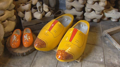 Wooden shoes - small size + large size Stock Footage