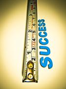 Stock Illustration of measuring tape success word, concept