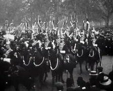 1910 - Death of King Edward VII of Britain 01 Stock Footage
