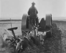 1917 - Ford Horseless Farming 02 Stock Footage