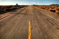 mojave road desert empty highway - stock photo