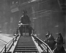 1929 - Firefighters 01 Stock Footage