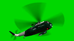 """Helicopter Night Hawk """"Marine One"""" in fly- seperated on green screen Stock Footage"""