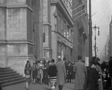 1929 - New York Traffic 01 Stock Footage