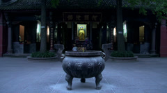 Blur people praying to buddha Stock Footage