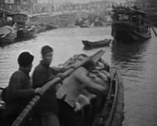 1930 - China - Fisherman boat 01 Stock Footage
