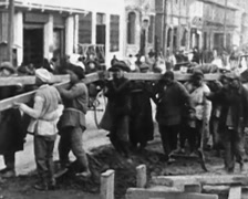1930 - China - Shanghai 04 - Workers 01 - stock footage