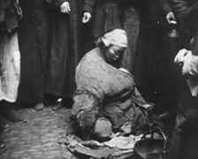 1930 - China - Shanghai 06 - Beggars 01 Stock Footage