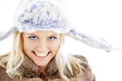 Winter girl #2 Stock Photos
