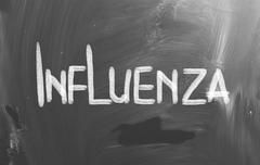 influenza concept - stock illustration