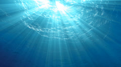 4K High quality Looping animation of ocean waves from underwater, slow motion. Stock Footage